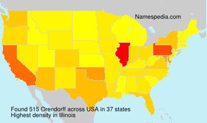 Familiennamen Orendorff - USA