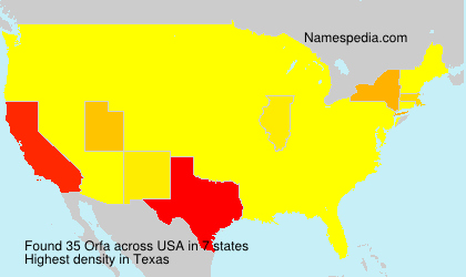 Surname Orfa in USA