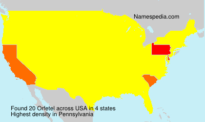 Surname Orfetel in USA