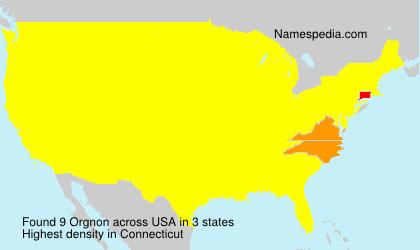 Surname Orgnon in USA