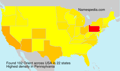 Surname Orient in USA