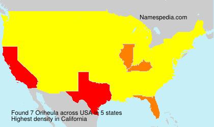 Familiennamen Oriheula - USA