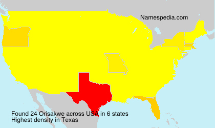 Surname Orisakwe in USA