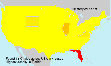 Surname Orjales in USA