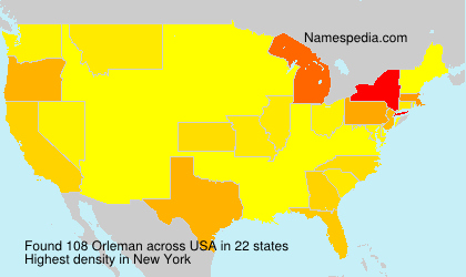 Surname Orleman in USA