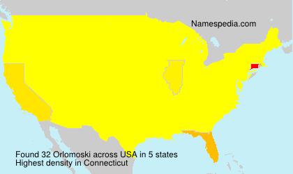 Surname Orlomoski in USA