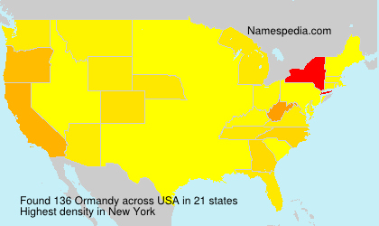 Surname Ormandy in USA