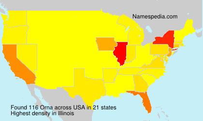 Surname Orna in USA