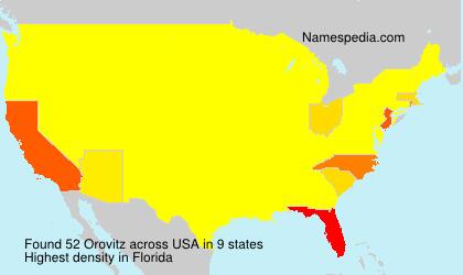 Surname Orovitz in USA