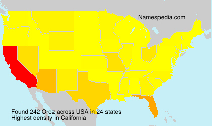 Surname Oroz in USA