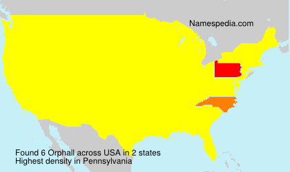 Surname Orphall in USA