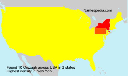 Surname Orszagh in USA