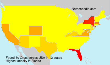 Familiennamen Ortas - USA