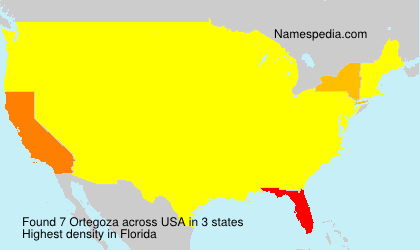 Surname Ortegoza in USA