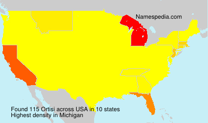Surname Ortisi in USA
