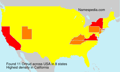 Surname Ortrud in USA