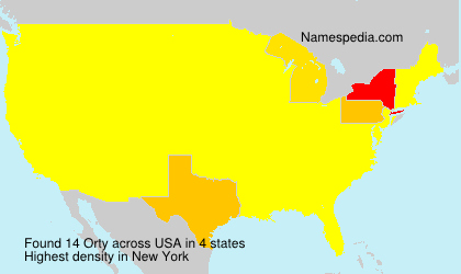 Surname Orty in USA