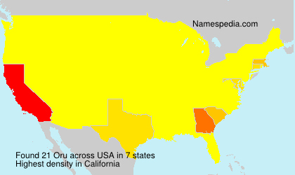 Surname Oru in USA