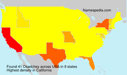 Surname Osadchey in USA