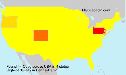 Surname Osag in USA