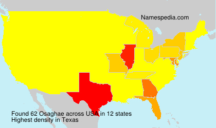 Surname Osaghae in USA