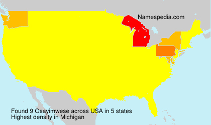 Surname Osayimwese in USA