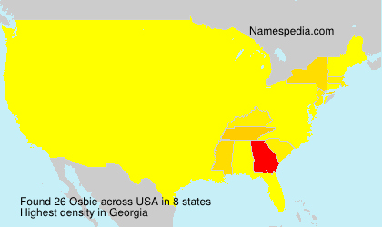 Surname Osbie in USA