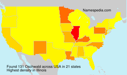 Surname Oschwald in USA