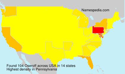 Familiennamen Oseroff - USA