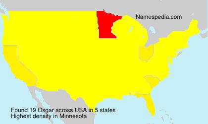 Surname Osgar in USA