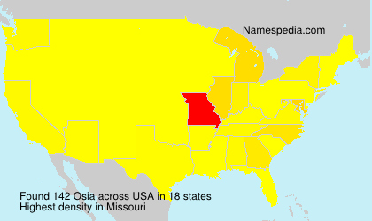 Surname Osia in USA