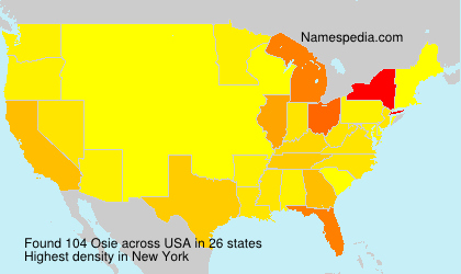 Surname Osie in USA