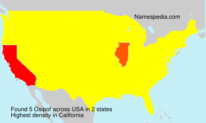 Surname Osipof in USA