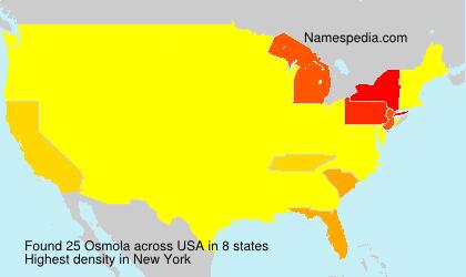 Surname Osmola in USA