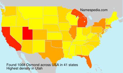 Familiennamen Osmond - USA