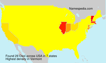 Surname Osol in USA