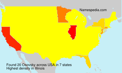 Surname Osovsky in USA