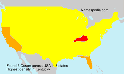 Surname Osram in USA