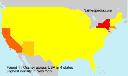 Surname Ossher in USA