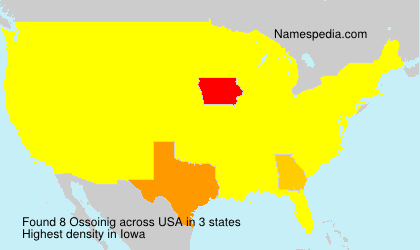 Surname Ossoinig in USA