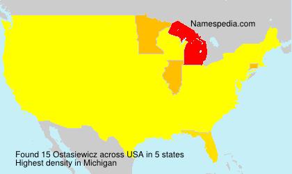 Surname Ostasiewicz in USA