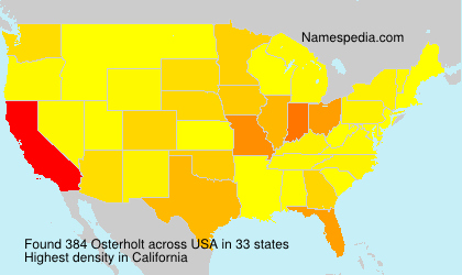 Surname Osterholt in USA