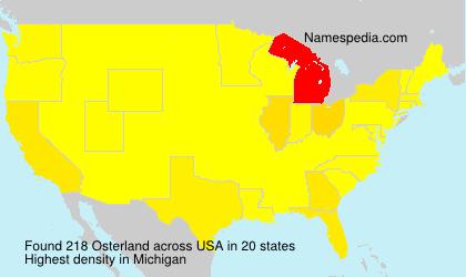 Familiennamen Osterland - USA