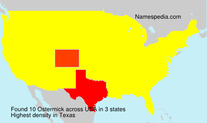 Surname Ostermick in USA