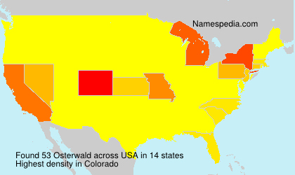 Surname Osterwald in USA