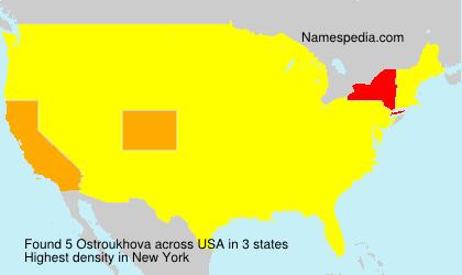 Familiennamen Ostroukhova - USA