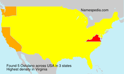 Familiennamen Ostulano - USA