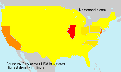 Surname Osty in USA