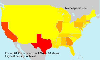 Surname Osunde in USA