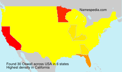 Surname Oswall in USA